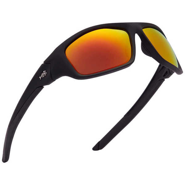 Bild på Bassdash V01 Polarized Sunglasses Matte Black/Red Mirror