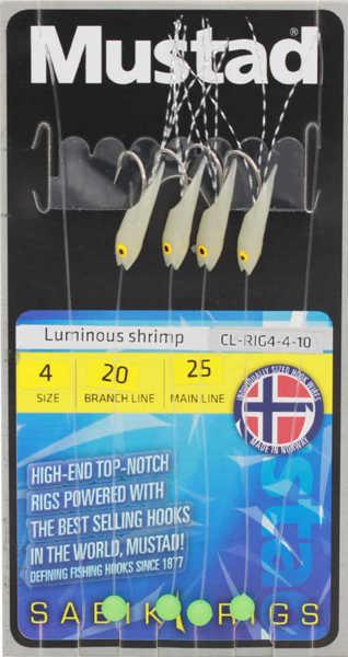 Bild på Mustad Luminous Shrimp Glow Häckla (4 krokar #4)