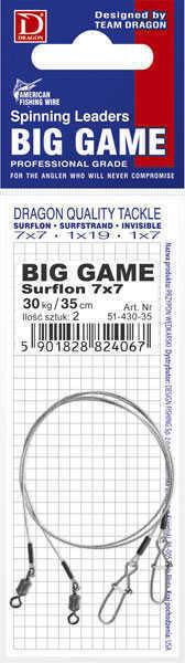 Bild på Dragon Big Game Surflon Leader 7x7 (2 pack)